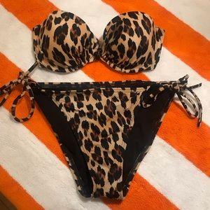 Victoria's Secret Leopard Bandeau Bikini